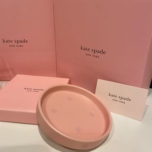 Kate Spade blush pink round jewelry dish